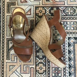 Michael by Michael Kors Tan Wedge